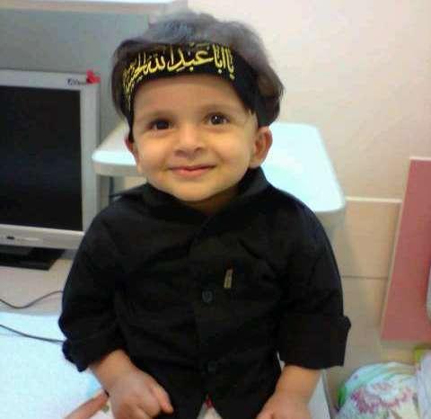 پسرم مهدیار در لباس مشکی