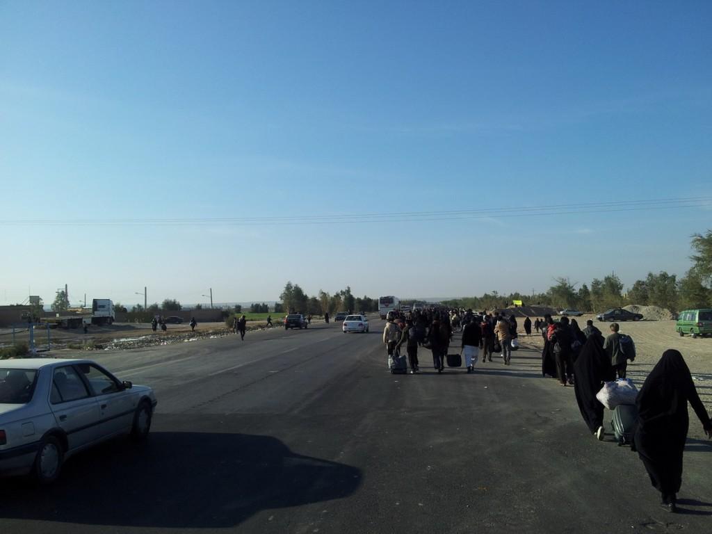 5 کیلومتری مرز مهران - 5km to Mehran frontier - Arbaeen 2014