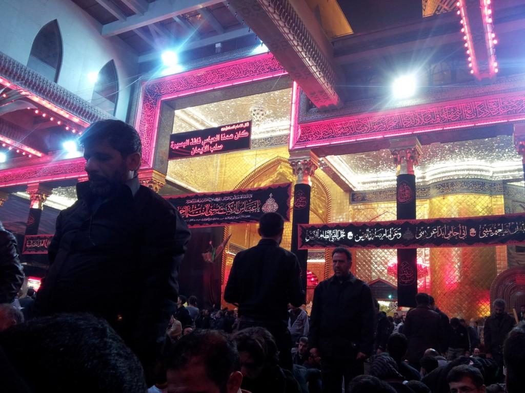 Inside Haram Abalfazl Abbas, Brother of Imam Hossein - داخل حرم حضرت ابالفضل در اربعین 1436
