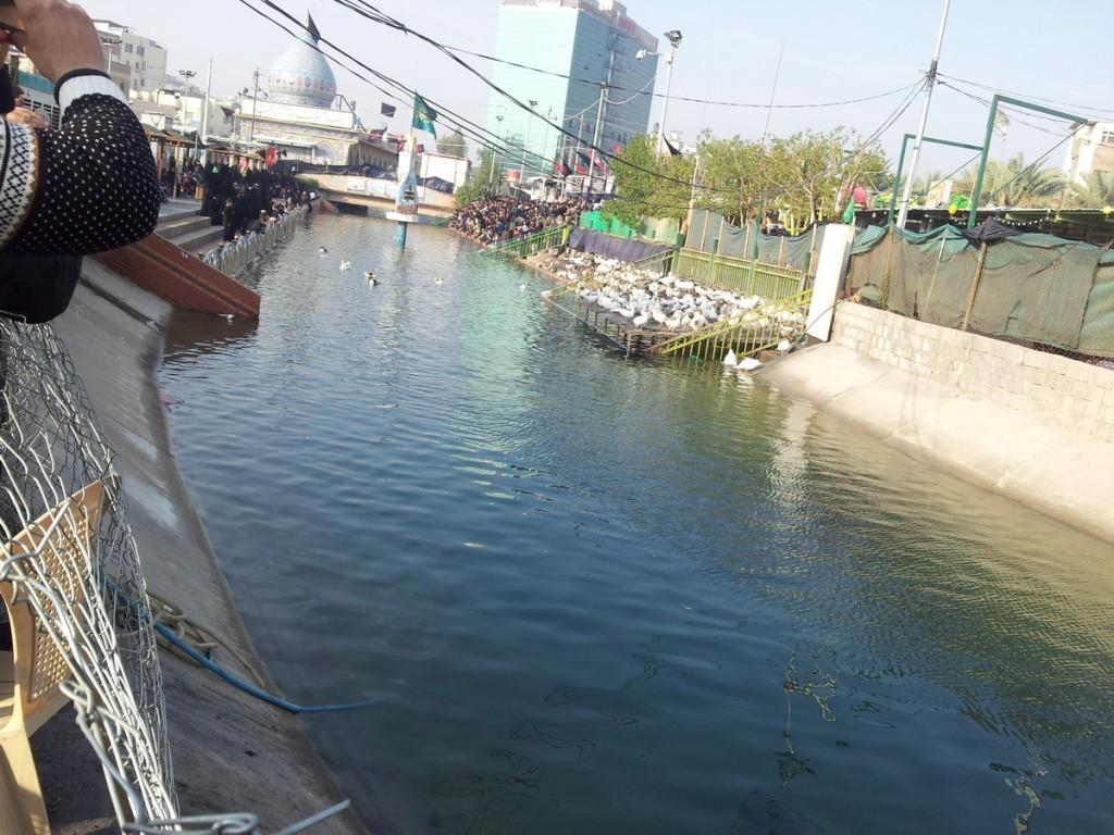 Alghame Creek, a stream near the place of the battle of Karbala - نهر علقمه که ابالفضل علیه السلام از آن آب برداشت