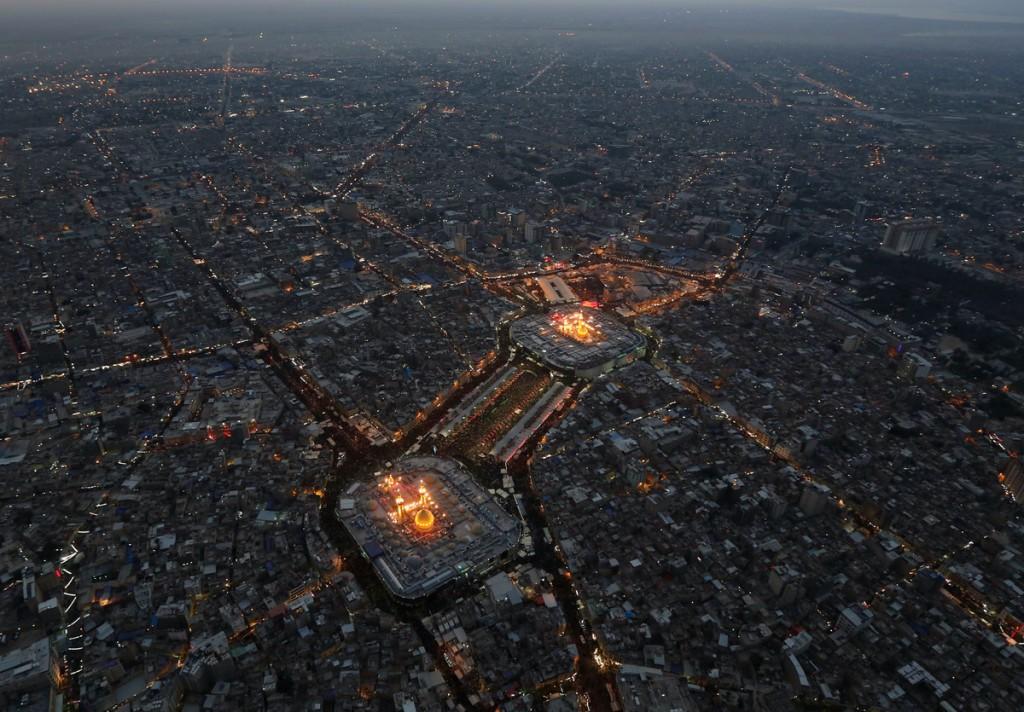 Arbaeen 2014 Aerial View - تصویر هوایی از بین الحرمین در اربعین 1393