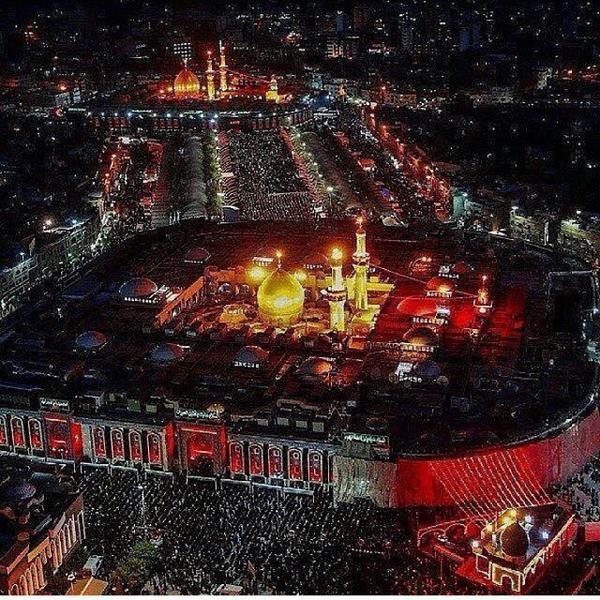 Arbaeen 2014 Aerial View تصویر هوایی از اربعین 1393