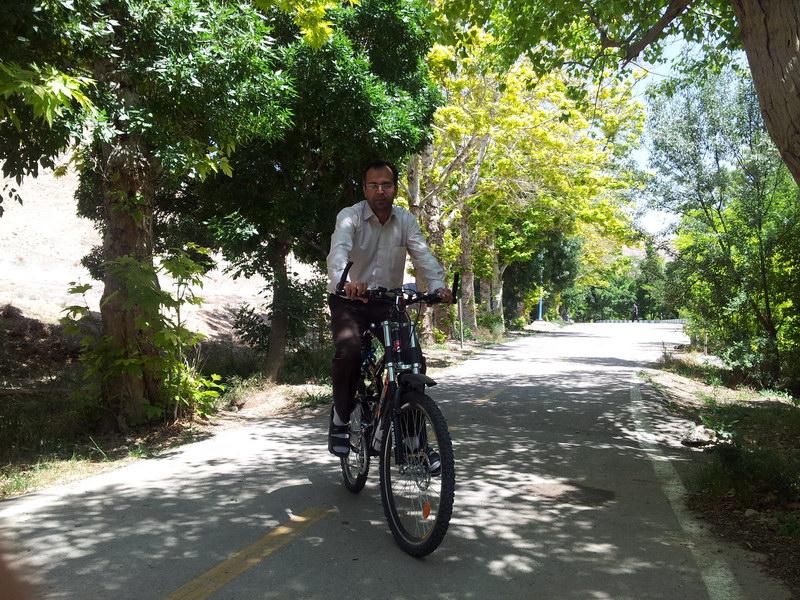 دوچرخه سواری در پیست شاهرود