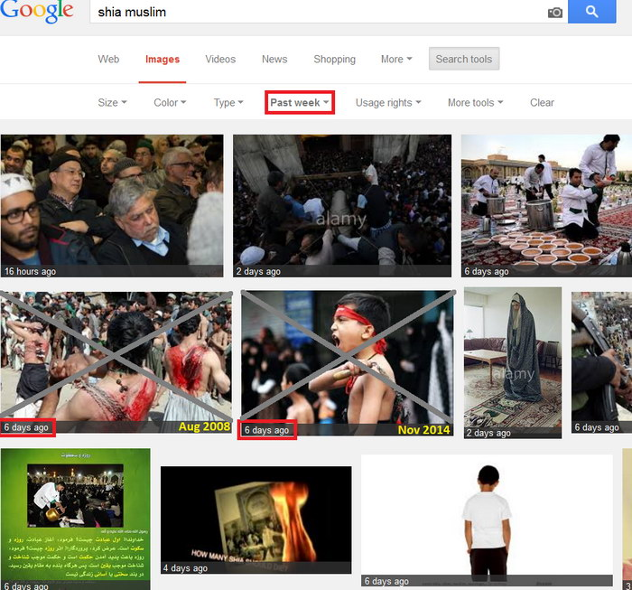 "google is against shia islam and shows violent photos in the first page for search term ""shia muslim""w"